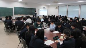 守山中学校出張授業